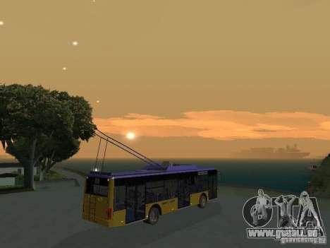 Trolleybus LAZ e-183 für GTA San Andreas Innenansicht