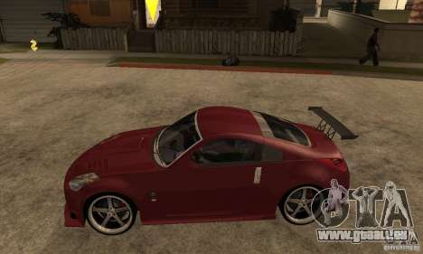 Nissan 350Z JC2 pour GTA San Andreas laissé vue