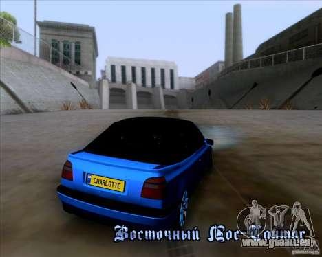 Volkswagen Golf III pour GTA San Andreas vue de dessus
