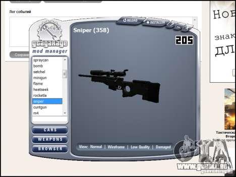 Weapon pack pour GTA San Andreas douzième écran