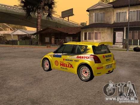 Suzuki Swift Rally pour GTA San Andreas vue de droite