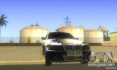 BMW 325i E46 v2.0 pour GTA San Andreas vue intérieure