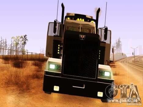 Western Star 4900 für GTA San Andreas Innenansicht