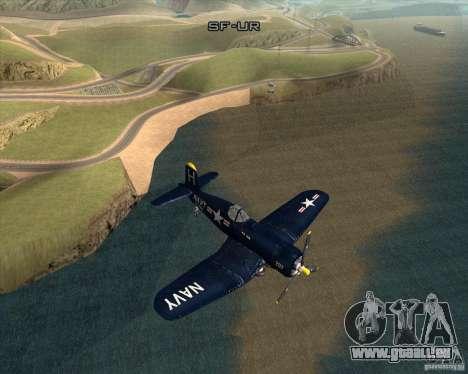 Aereo Corsair F4U1D für GTA San Andreas rechten Ansicht