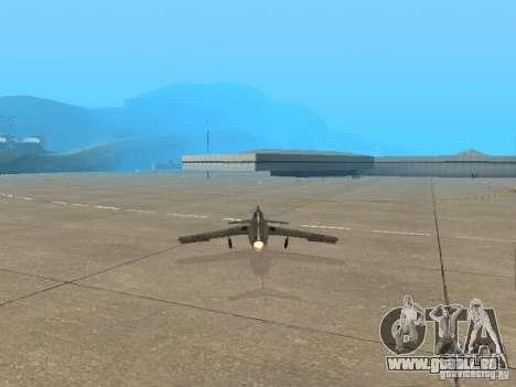 MiG-15 mit Waffen für GTA San Andreas zurück linke Ansicht