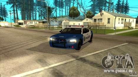 Dodge Charger Los-Santos Police für GTA San Andreas zurück linke Ansicht