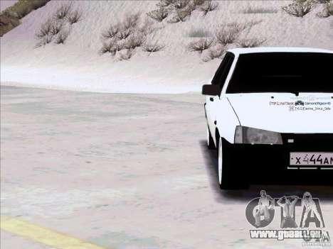 VAZ 21099 pour GTA San Andreas vue intérieure