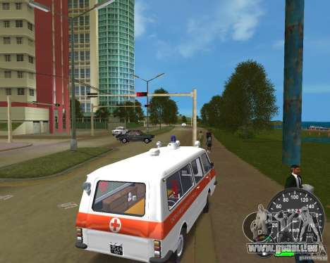 RAF 2203 Ambulanz für GTA Vice City linke Ansicht
