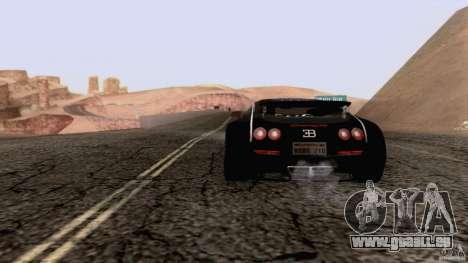 Bugatti ExtremeVeyron pour GTA San Andreas laissé vue
