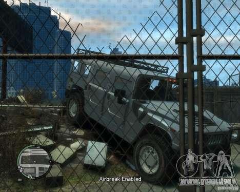 Hummer H1 für GTA 4 Rückansicht