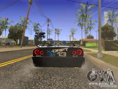 Elegy Drift Korch v2.1 pour GTA San Andreas sur la vue arrière gauche