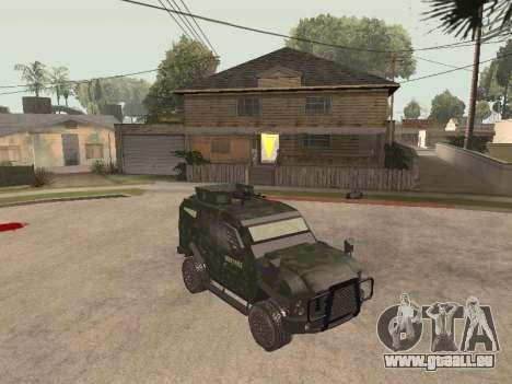 Oshkosh SandCat of Mexican Army pour GTA San Andreas laissé vue
