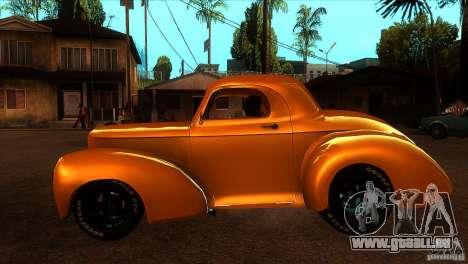 Americar Willys 1941 pour GTA San Andreas laissé vue