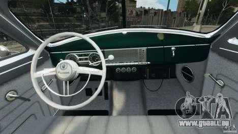 Packard Eight Police 1948 pour GTA 4 Vue arrière