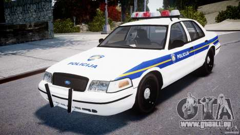 Ford Crown Victoria Croatian Police Unit pour GTA 4