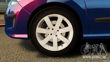 Peugeot 308 2007 für GTA 4 Unteransicht