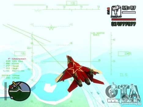 MIG 29 OVT pour GTA San Andreas