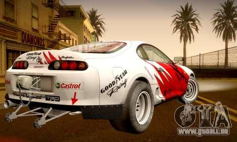 Toyota Supra JZA80 RZ Dragster für GTA San Andreas Innenansicht
