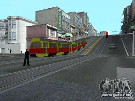 Tatra T3SU pour GTA San Andreas vue intérieure