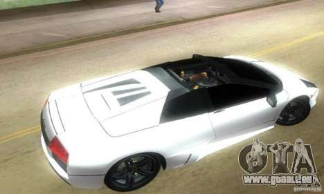 Lamborghini Murcielago LP640 Roadster für GTA Vice City linke Ansicht
