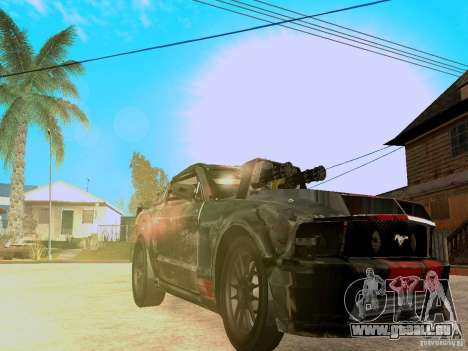 Ford Mustang Death Race für GTA San Andreas Innenansicht