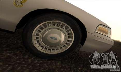 Ford Crown Victoria Colorado Police für GTA San Andreas rechten Ansicht