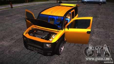 Honda Element LX pour GTA San Andreas vue de dessus