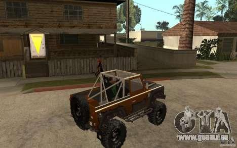 Land Rover Defender Extreme Off-Road pour GTA San Andreas vue de droite