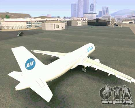 Airbus A-320 compagnie aérienne UTair pour GTA San Andreas vue intérieure