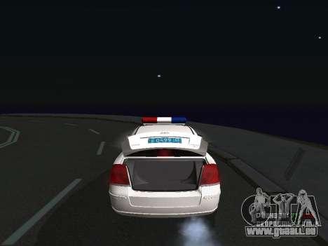 Toyota Avensis DPS pour GTA San Andreas vue de droite