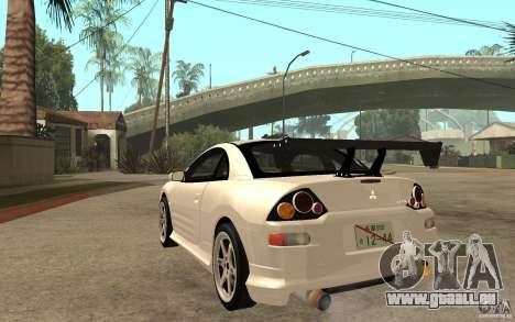Mitsubishi Eclipse 2003 V1.5 pour GTA San Andreas sur la vue arrière gauche
