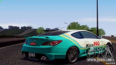 Hyundai Genesis Tunable für GTA San Andreas Innen