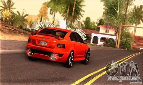 Holden HSV GTS für GTA San Andreas Rückansicht