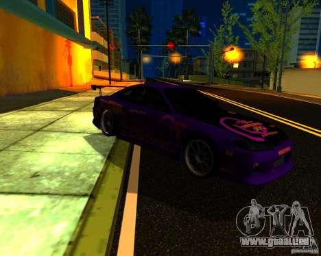 Nissan Silvia C-West pour GTA San Andreas sur la vue arrière gauche