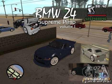 BMW Z4 Supreme Pimp TUNING volume I pour GTA San Andreas