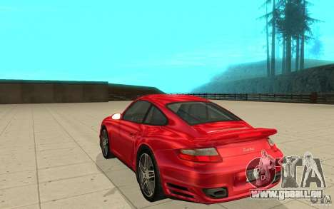 Porsche 911 (997) Turbo v3.0 pour GTA San Andreas sur la vue arrière gauche