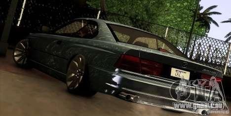 BMW 850 CSI pour GTA San Andreas vue de droite
