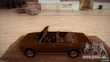 VAZ 2103 Cabrio für GTA San Andreas obere Ansicht