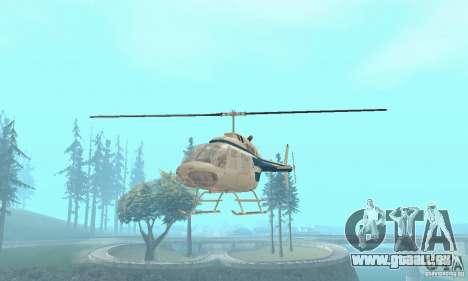 Bell 206B JetRanger II pour GTA San Andreas vue de droite