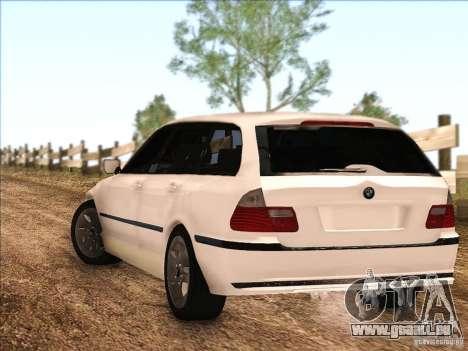 BMW M3 E46 Touring pour GTA San Andreas sur la vue arrière gauche
