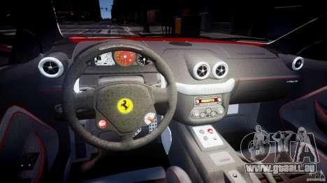 Ferrari 599 GTB Fiorano für GTA 4 Rückansicht