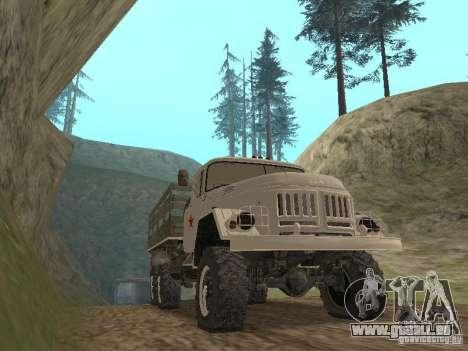 ZIL 131 Main pour GTA San Andreas laissé vue