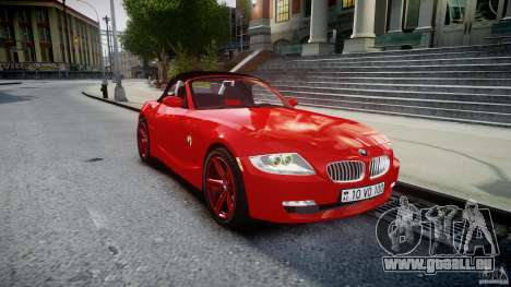 BMW Z4 Roadster 2007 i3.0 Final pour GTA 4 est une vue de l'intérieur