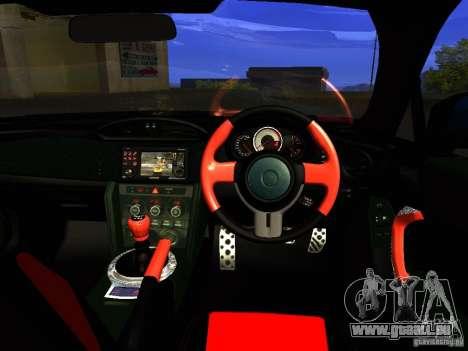 Toyota GT86 Limited pour GTA San Andreas vue de dessous