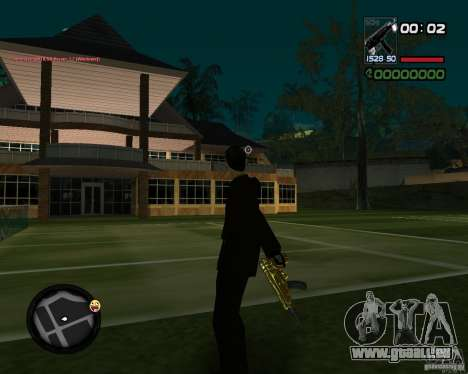 Tec 9 GOLD pour GTA San Andreas deuxième écran