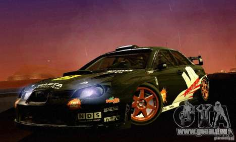 Subaru Impreza WRC 2007 für GTA San Andreas linke Ansicht