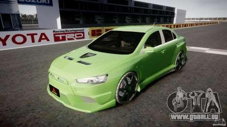Mitsubishi Lancer Evolution X Tuning pour GTA 4 est un côté
