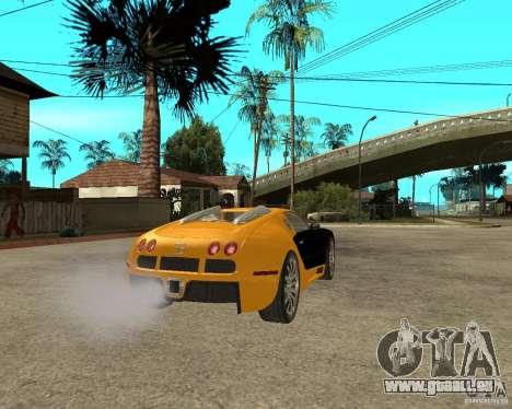 Bugatti Veyron pour GTA San Andreas sur la vue arrière gauche