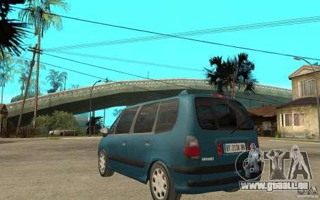 Renault Espace III 1999 pour GTA San Andreas sur la vue arrière gauche