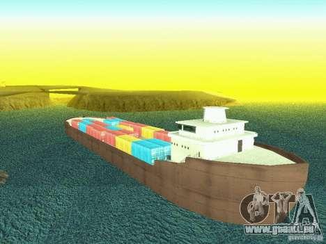 Drivable Cargoship pour GTA San Andreas quatrième écran